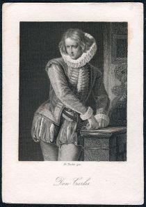 Friedrich Schiller – Don Carlos, ilustración de Johann Leonhard Raab (1859)