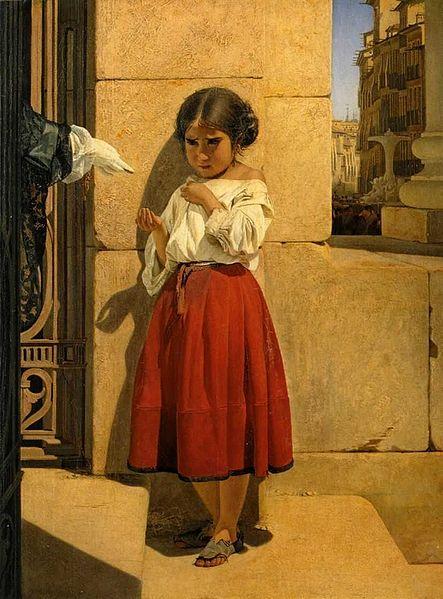Evgraf Semenovich Sorokin – Pequeña mendiga de España (1852)