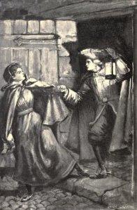 John Edward Bloundelle-Burton – The King of Spain's will, ilustración de Enoch Ward (1898)
