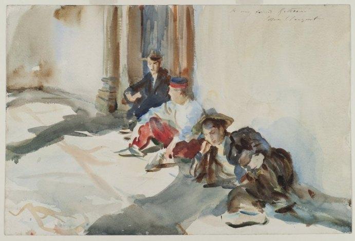 John Singer Sargent – Soldados españoles (1902-1903)