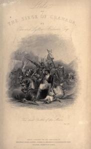 Edward Bulwer-Lytton - Leila, or The Siege of Granada, ilustración de Charles Heat, 1838