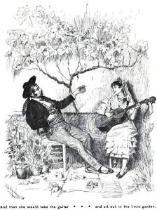 Frances Hodgson Burnett - The Pretty Sister of José, ilustración de C.S. Reinhart (1889)