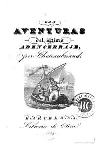 François-René de Chateaubriand – Las Aventuras del último Abencerraje, edición española de 1839