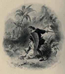 James Fenimore Cooper – Mercedes of Castile, ilustración de F.O.C. Darley (1904)