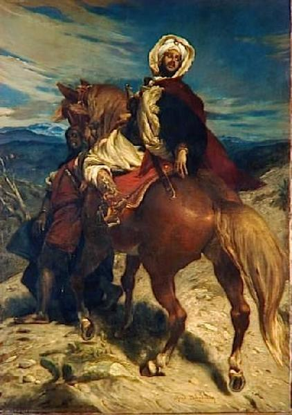 Alfred Dehodencq - Boabdil despidiéndose de Granada (1869)