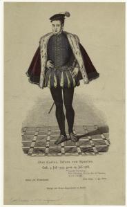Don Carlos, Infante de España, de Blätter für kostümkunde : historische und Volkstrachten. (Berlin : Lipperheide, 1874-1876)