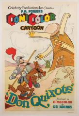Don Quixote, cartel del dibujo animado de 1934