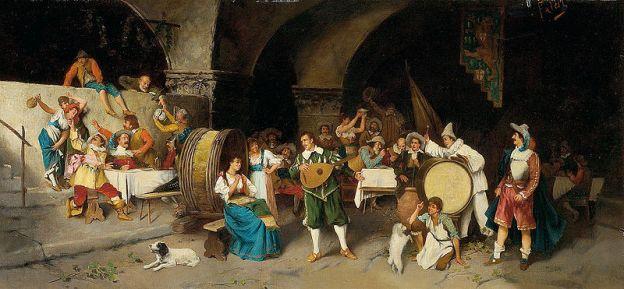 Luis Ricardo Falero – La Fiesta en la taberna (1880)