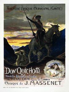 Jules Massenet – Don Quichotte, cartel de Georges Rochegrosse (1910)