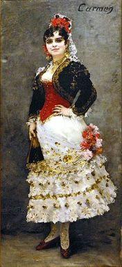 Henri-Lucien Doucet - La mezzo-soprano Célestine Galli-Marié que creó el papel de Carmen (1884)