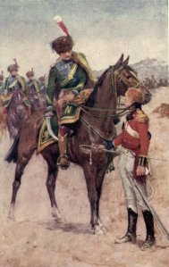 George Alfred Henty – Under Wellington's command, ilustración de Wal Paget (1898)