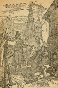 George Alfred Henty - The young buglers : a tale of the Peninsular War, ilustración de la edición de 1902