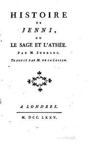 Voltaire (M. Sherloc) – Histoire de Jenni, ou Le Sage et l'athée (1775)