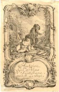 Alain-René Le Sage – Histoire de Gil Blas de Santillane, ilustración de Adam Friedrich Oeser (S. XVIII)