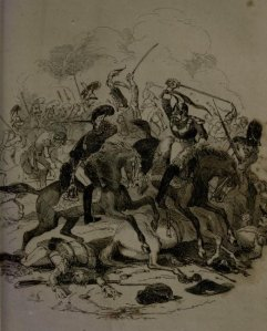 Charles James Lever - Charles O'Malley, the Irish dragoon, ilustración de Phiz (1841)
