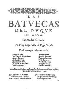 Lope de Vega - Las Batuecas del Duque de Alba (1638)