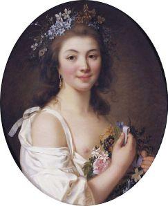 Jacques-Antoine-Marie Lemoine - Retrato de Madame de Genlis (S. XIX)