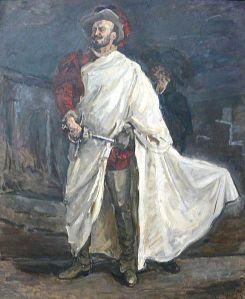 El cantante Francisco d'Andrade caracterizado como Don Giovanni, retratado por Max Slevogt (1912)