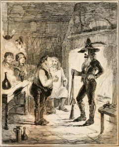 William Hamilton Maxwell - The Fortunes of Hector O'Halloran, and his man Mark Antony O'Toole, ilustración de John Leech (1853)