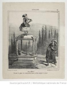 Molière – Dom Juan, ou le Festin de pierre, grabado del siglo XIX