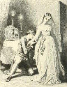 Charles Nodier – Inès de las Sierras, ilustración de Tony Johannot (1846)