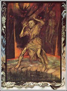Edgar Allan Poe – The Pit and the pendulum, ilustración de Arthur Rackham (1935)