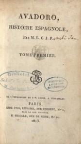 Jan Potocki – Avadoro, histoire espagnole (1813)