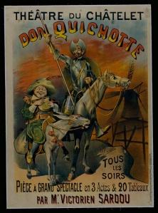 Cartel de « Don Quichotte » de Victorien Sardou (1864)