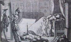 Paul Scarron - L'Adultère innocent, ilustración de Jacques de Sève (1752)