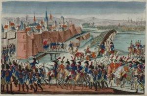 Sitio de Valencia por el General Suchet, 9 de enero de 1812, ilustración del S. XIX