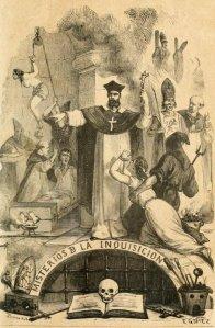 Madame de Suberwick - Misterios de la Inquisición en España, ilustración de Eusebio Planas (1877)