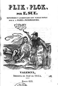 Eugène Sue – Plick y Plock, edición española de 1832