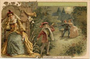 Victor Hugo – Hernani, cromolitografía de finales del S. XIX