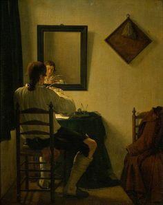 Ekels de Jonge - Un escritor afilando su pluma (1784)