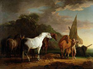 Sawrey Gilpin - Gulliver marchándose del país de los Houyhnhnms (1769)