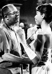 Hepburn y Wilder durante un rodaje