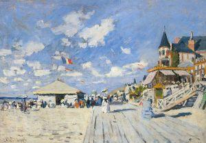 Claude Monet - En la playa de Trouville (1870)
