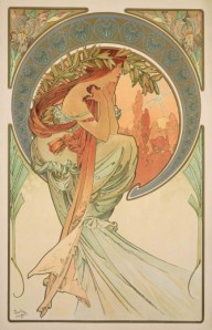 Alfons Mucha - The Arts : Poetry (1898)
