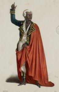 El actor Frédéric Lemaître, en su creación del personaje de Toussaint Louverture