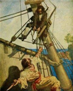 Robert Louis Stevenson - Treasure Island, ilustración de N. C. Wyeth (1911)