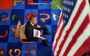 Barack Obama en la presentación de su libro infantil