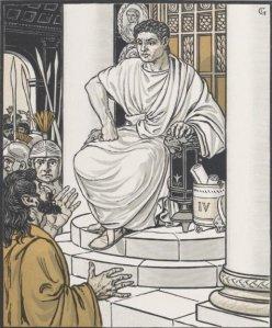 Anatole France – Le Procurateur de Judée, ilustración de Eugène Grasset (1902)