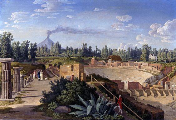 hackert,-vista-teatro-pompeya