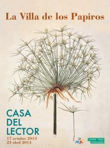 Cartel de la exposición « La Villa de los Papiros » en la Casa del Lector