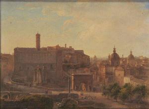 Louise Joséphine Sarazin de Belmont – Vista del Foro y del Capitolio romanos (186?)