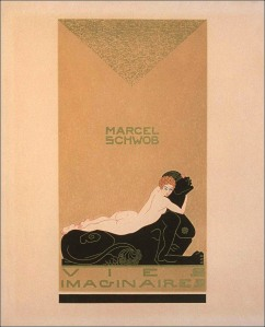 Marcel Schwob – Vies imaginaires, cubierta de Georges Barbier (1929)