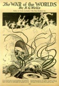 H.G. Wells - The War of the Worlds, en la revista Amazing Stories (1927)