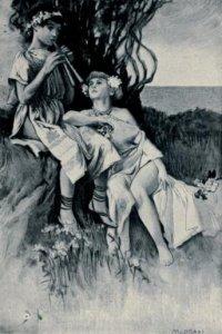 Jean Bertheroy - La Danseuse de Pompéï, ilustración de Manuel Orazi (1905)