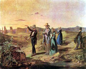 Carl Spitzweg - Ingleses en la Campaña romana (1845)