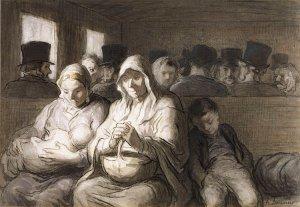 Honoré Daumier - El Vagón de tercera clase (1864)